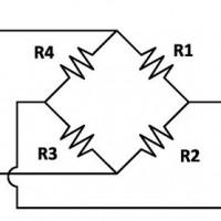 Схема электрической цепи тензодатчика с описанием.