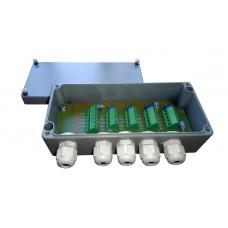 Соединительная балансировочная коробка для 4-х тензодатчиков с платой Utilcell 89129 ATEX для взрывоопасных сред. Алюминий.