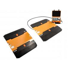 Портативные подкладные автомобильные весы CAS RW для поосного взвешивания.