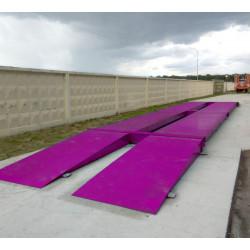 Весы автомобильные электронные 60 тонн 12 метров бесфундаментные с пандусами