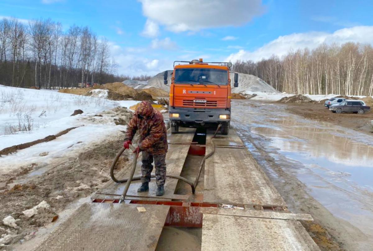 Промывка автовесов от грязи и льда