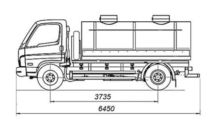 Габаритные размеры автомобилей для автовесов 6 метров